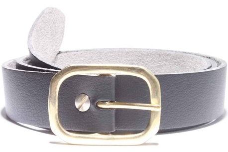 Vegan belt, Double D brass buckle, medium belt strap one and a quarter inches wide