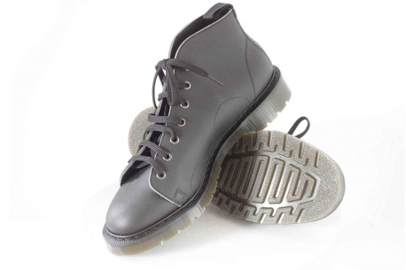 Vegan monkey boot with a bouncy sole, ethically made in the UK