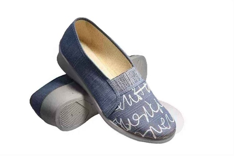 Fargeot Slip-on blue vegan shoe for women