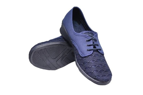 Vegan cotton-top shoe