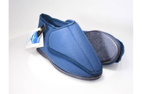 Slipper Two Bit, rubber sole, assembles over the foot to allow for post-op use or for swollen feet.