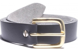 Vegan belts, brass D-shape buckle, One and a quarter inch strap