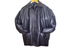 mens vegan button jacket, made in the UK from PU sheet and viscous lining