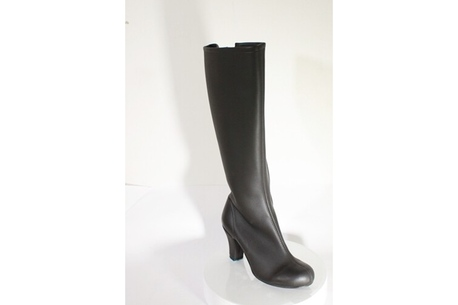 Womens high heel vegan boot made in Britain