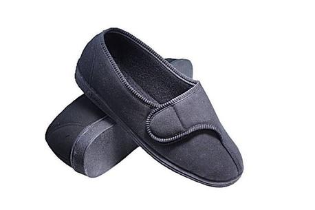 Comfylux Barbara womens broad-fit velcro and hydromax slipper
