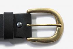Vegan Belt 38mm wide with a D brass buckle
