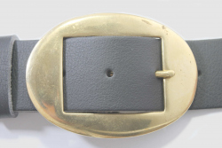 Vegan Belt 38mm Oval brass buckle