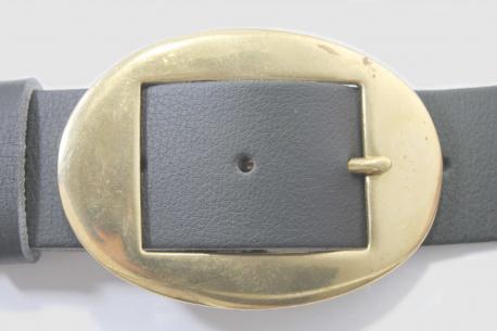 Vegan Belt 38mm Oval brass buckle