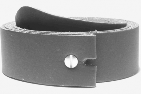 Vegan leather belt strap cut to length, 38mm wide with a screw rivit - use your own buckle