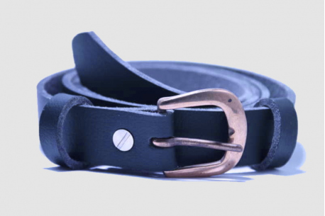 Vegan belts, one inch strap, D-shape brass buckle, breathable vegan leather
