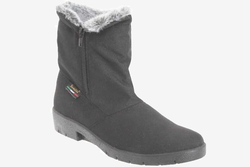 womens vegan boots with a mackintosh top, made in Italy