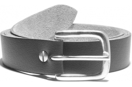 D nickel plate buckle on a vegan belt 32mm one and a quarter inches wide