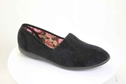 Audrey Black Slipper