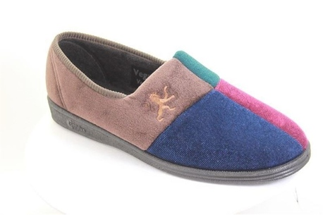 Soft sole Rugby velour slipper