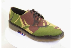 Camouflage vegan shoes mainly for men made in UK