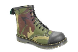 Vegan unisex Camouflage 8 lace everyday comfortable boot