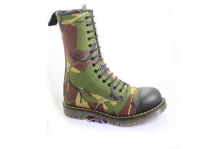 Camouflage Tall Boot for women or men, vegan
