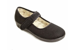 Mesh single strap vegan mary jane sandal shoe for women